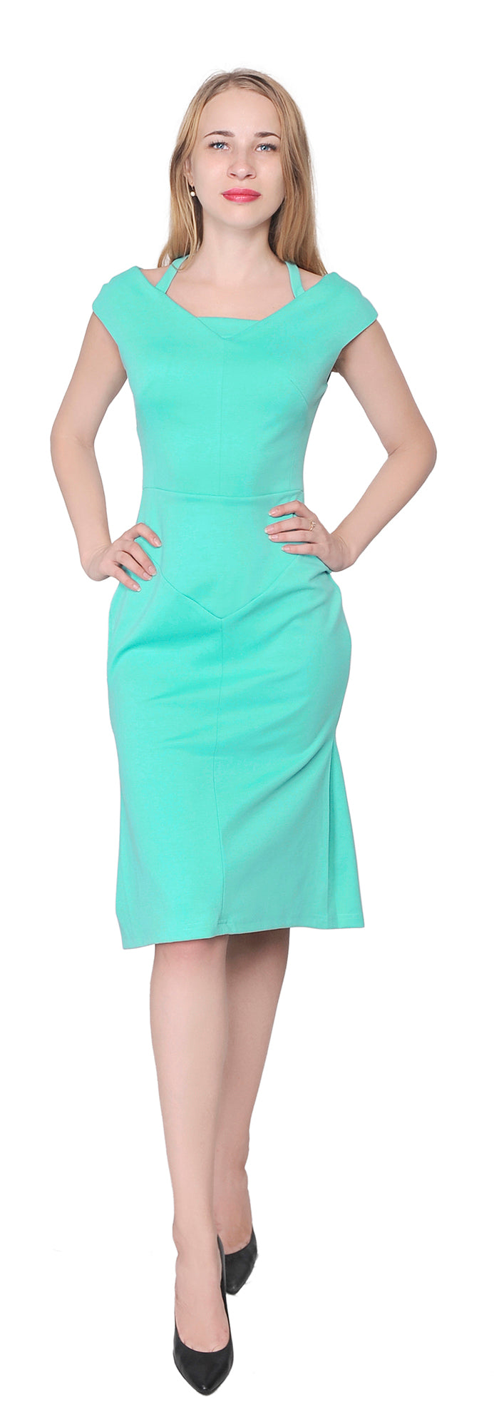 Women's Cocktail Mermaid Knee Length Dress