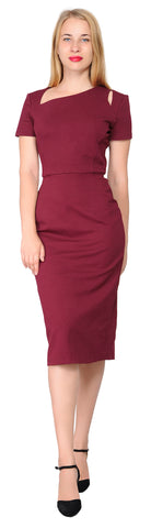 Women's Work Cocktail Cutout Pencil Midi Dress