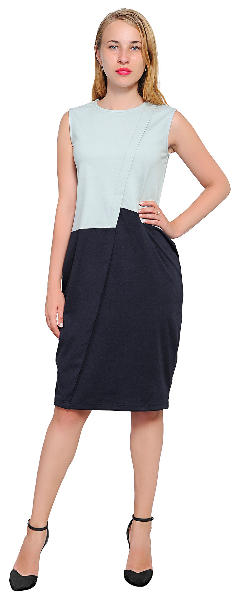 Womens cocktail party work office business dress loose colorblock womens cocktail work loose colorblock shift dress ombrellifo Choice Image