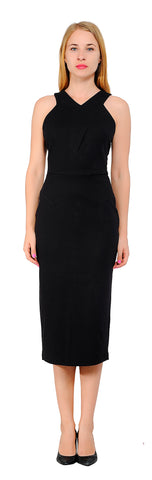 Women's Cocktail Sleeveless Pencil Midi Dress
