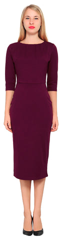 Women's Work Cocktail Pencil Midi Dress