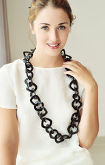 Chunky necklace buffalo horn necklace