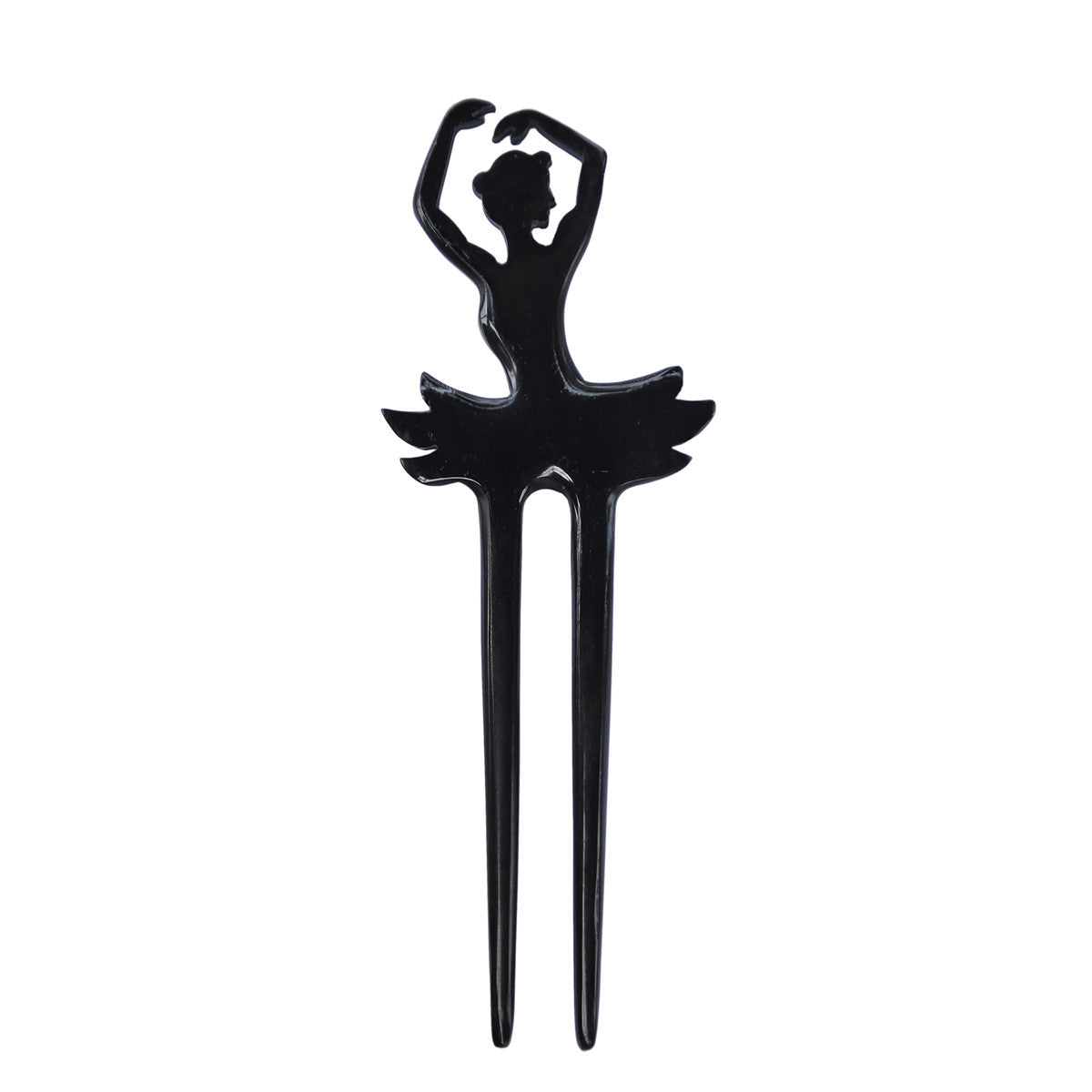 Black buffalo horn ballerina hair fork