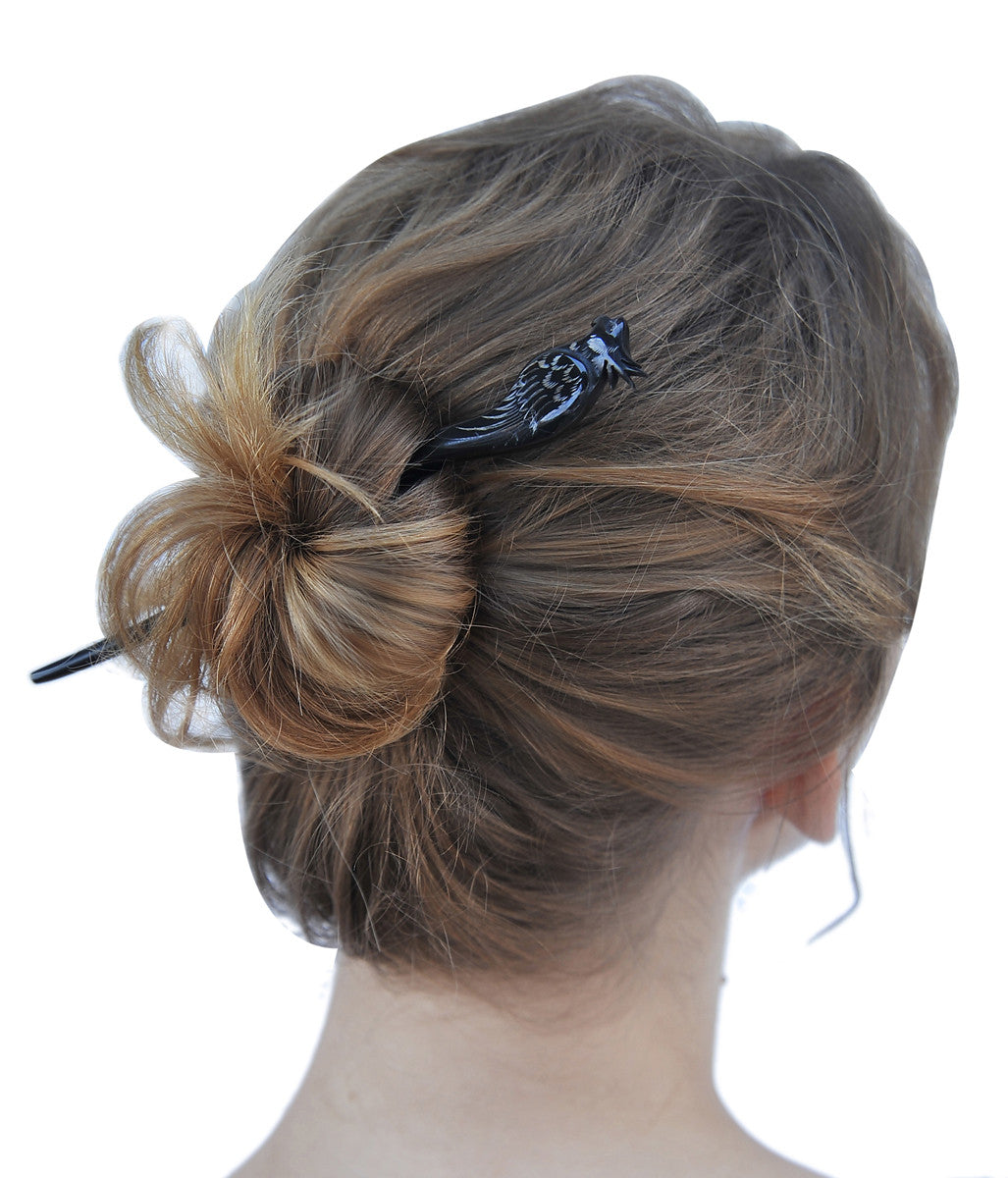 Black Cockatoo Parrot Hair stick