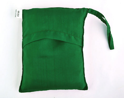 "Sleeping Bag Liner, Travel Sheet, Sleepsack  Emerald Green 100% Pure handicraft Silk  83""x33"""