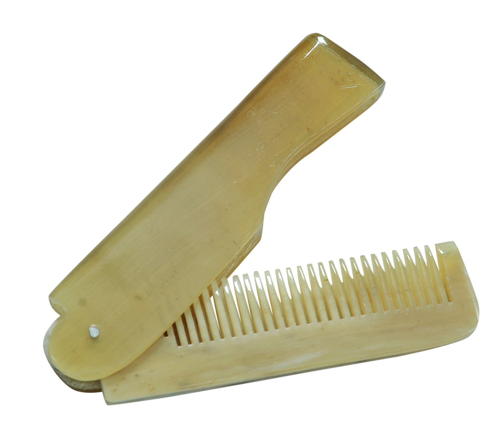 Marycrafts elegant Anti-frizz Pocket Folding Hair Brush Horn Comb