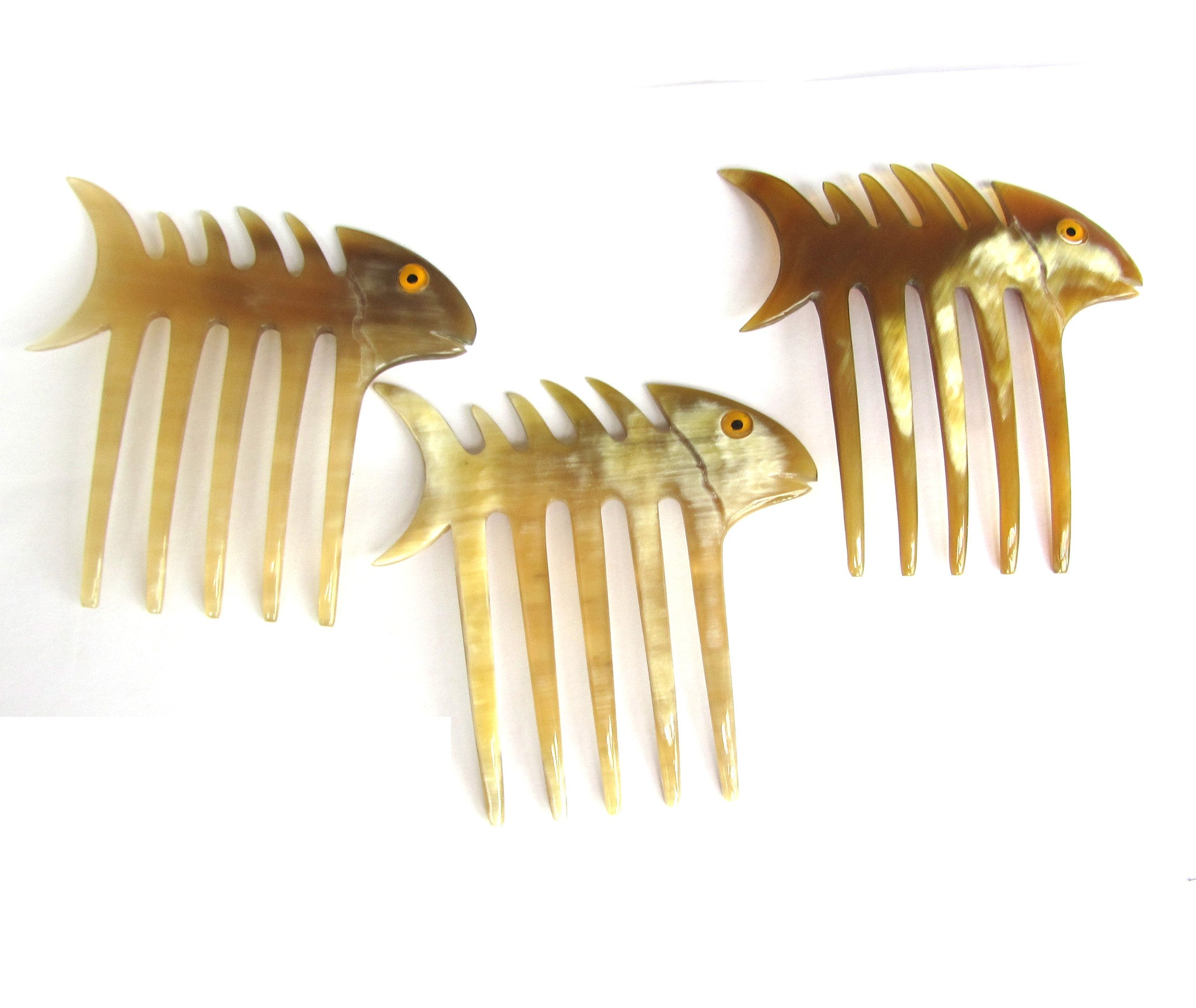 Fish bone hair comb 5 prong hair fork