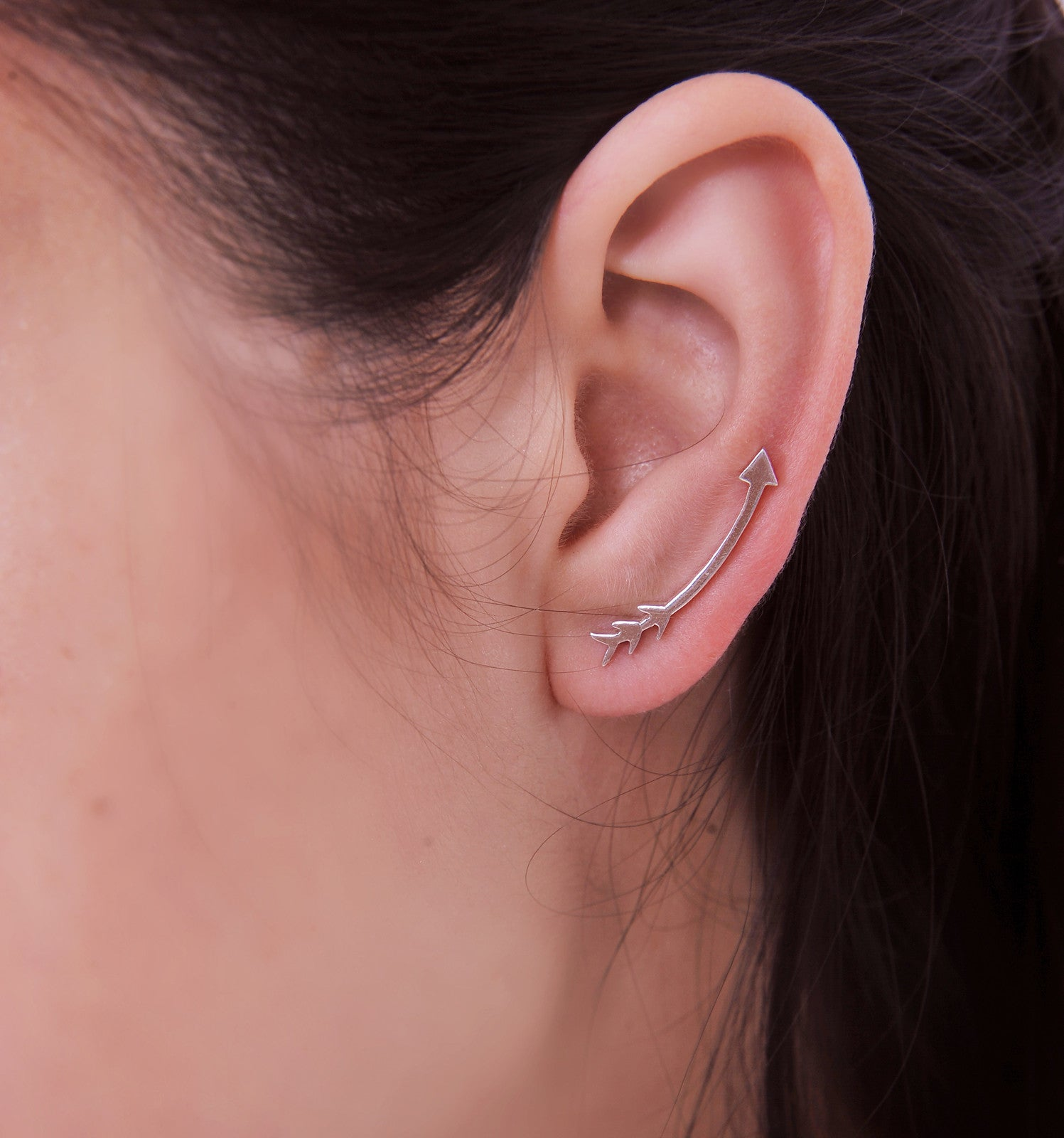 Sterling Silver Arrow Ear Crawler Ear climber