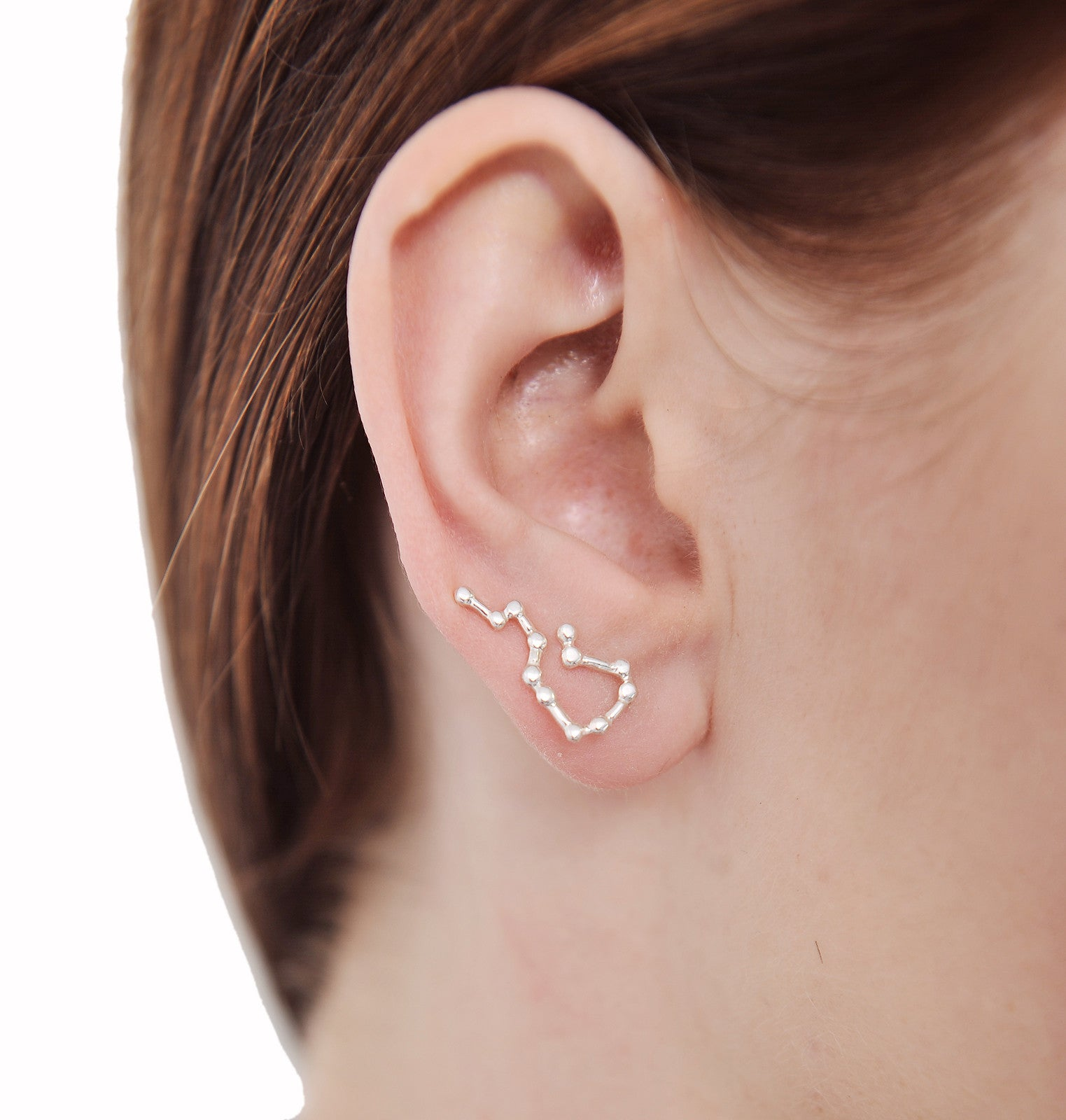 c177ab5c8dae07 Sterling Silver Aquarius Star Ear Climber Earrings – Marycrafts