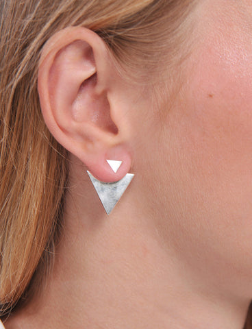 Sterling Silver Sagittarius Star Ear Climber Earrings
