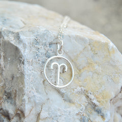 Taurus Horoscope Sign Sterling Silver pendant necklace