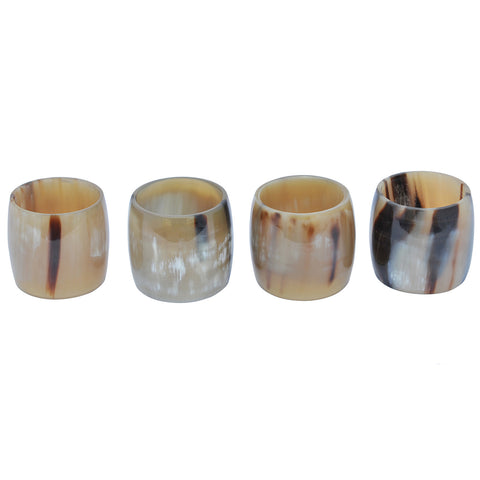 Marycrafts handmade Buffalo Horn Decor Napkin Rings for Dinners, Parties, Holidays, Everyday Set of 4