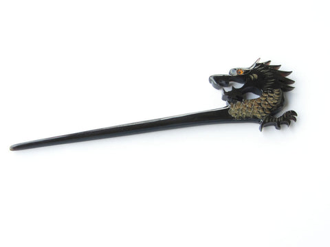 Black Buffalo Horn Dragon Hair Stick