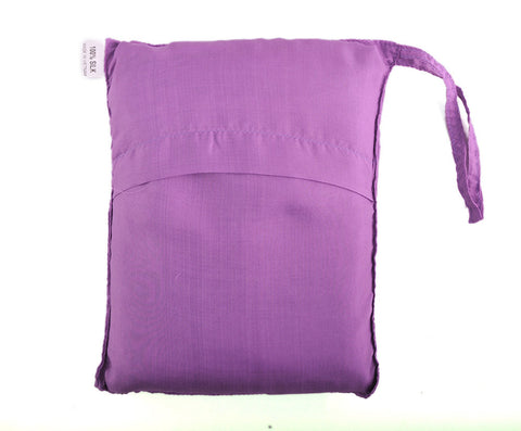 "Single Sleeping Bag Liner, Travel Sheet, Sleepsack  Light Purple 100% Pure handicraft Silk  83""x33"""