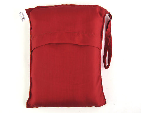 "Single Sleeping Bag Liner, Travel Sheet, Sleepsack  Dark Red 100% Pure handicraft Silk  83""x33"""