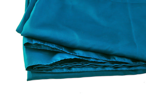 "Single Sleeping Bag Liner, Travel Sheet, Sleepsack  Peacock blue 100% Pure handicraft Silk  83""x33"""