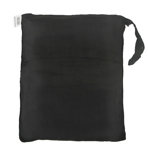 "Single Sleeping Bag Liner, Travel Sheet, Sleepsack  BLACK 100% Pure handicraft Silk  83""x33"""