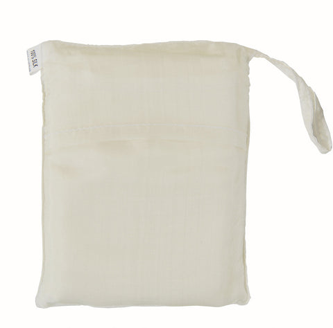 "Sleeping Bag Liner, Travel Sheet, Sleepsack White 100% Pure handicraft Silk  83""x33"""