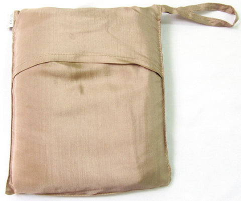 "Sleeping Bag Liner, Travel Sheet, Sleepsack Beige 100% Pure handicraft Silk  83""x33"""
