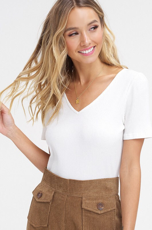 Ivory Back Tie Top