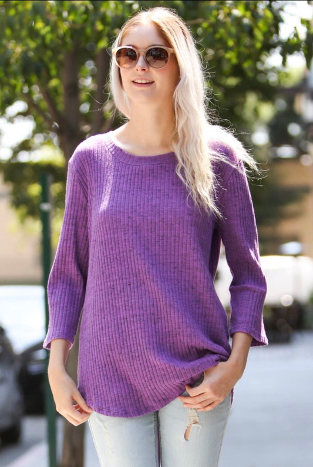 Lavender Knit Top