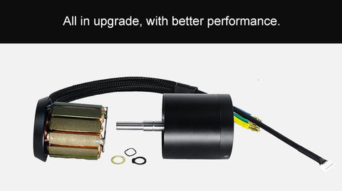 The Diferent Between Old and New of DC Motor 6374 for Electric Skateboard.