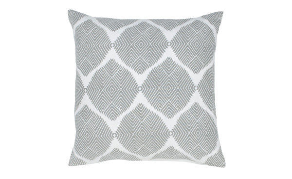 Grey Ikat Medallion Pillow