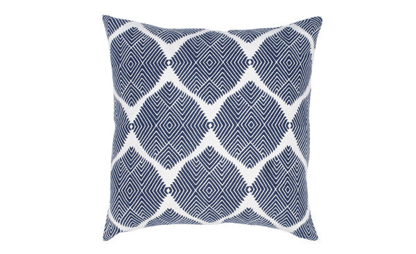 Navy Ikat Medallion Pillow