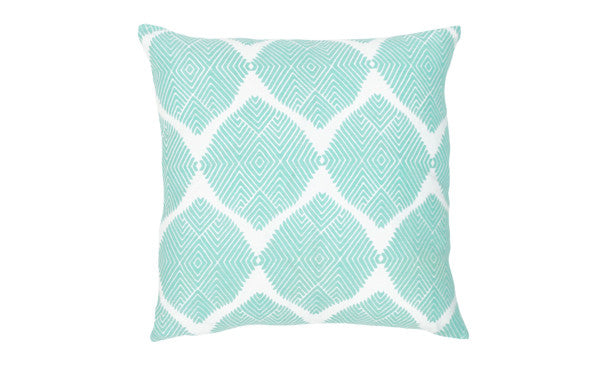 Aqua Ikat Medallion Pillow