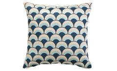 Navy Double Arches Pillow