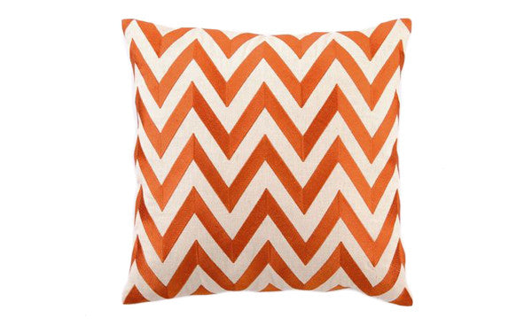 Orange Zig Zag Pillow