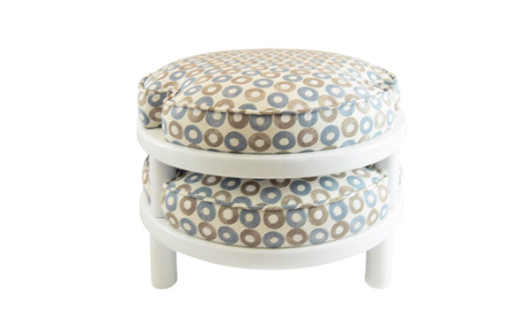 Blue & Grey Stackable Stools S/2