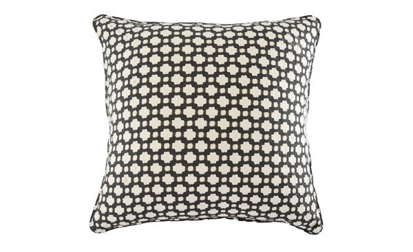 Charcoal Woven Spot Pillow