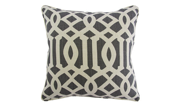 Charcoal Trellis Pillow