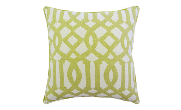 Chartreuse Trellis Pillow