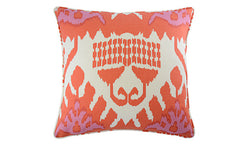 Coral Kazak Ikat Pillow