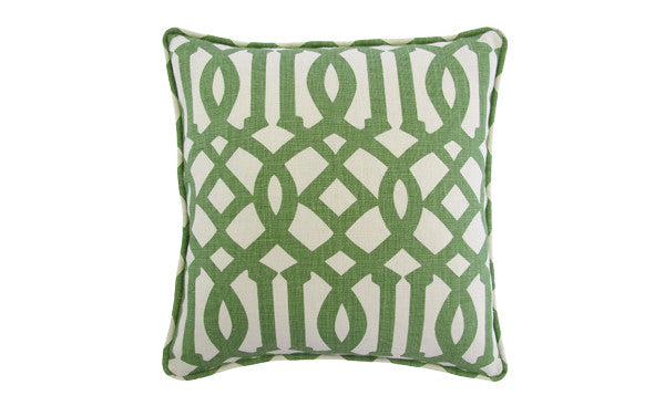 Green Trellis Pillow
