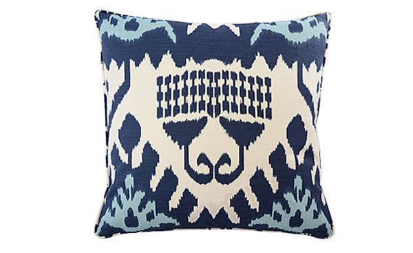 Navy Kazak Ikat Pillow