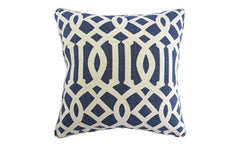 Navy Trellis Pillow
