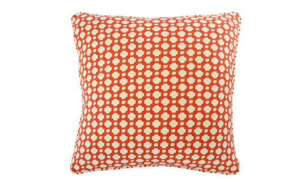 Red Woven Spot Pillow
