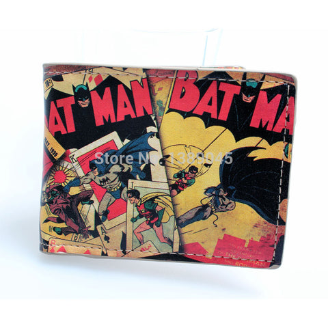 DC Comics BATMAN Comic Collage Bi-Fold WALLET