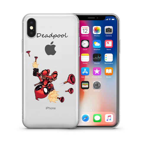 quality design 0fa6c 08098 Deadpool Jelly Clear Case for Apple Iphone X (10)