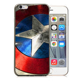 "Captain America Shield TPU Silicone Case for Iphone 6 PLUS (5.5"")"