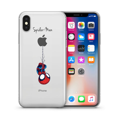 release date: 3d879 5d9e9 Spider Man Jelly Clear Case for Apple Iphone X (10)