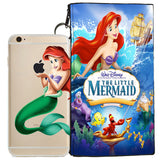 Disney's Little Mermaid Jelly Clear Case For Apple Iphone 7 PLUS + Pouch