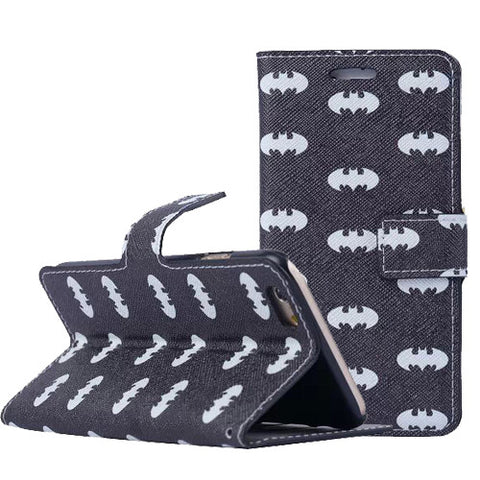 "Batman Pattern Wallet S Case Premium Wallet Case with STAND Flip Cover for iPhone 6/6s PLUS (5.5"")"