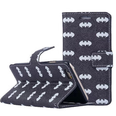 Batman Pattern Wallet S Case Premium Wallet Case with STAND Flip Cover for iPhone 5/ 5s /SE
