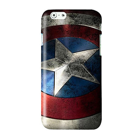 Captain America Shield Snap on Plastic Case Cover Compatible with Apple iPhone 6