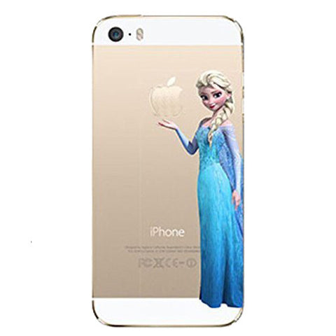Frozen Elsa Holding Logo Clear Transparent Case For Apple Iphone 6/6s PLUS (5.5-inch)