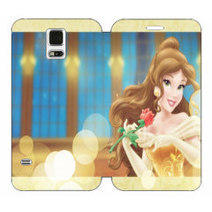 Disney Princesses (Belle) Wallet Case w/ Stand Flip Cover for Samsung Galaxy S5